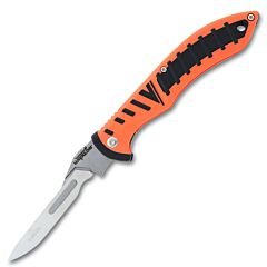 Havalon Forge Stainless Steel Changeable Blades Orange TPR Rubber Handle