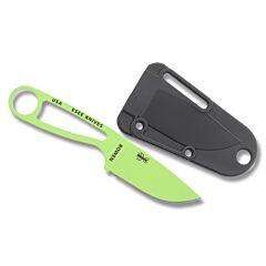 "ESEE Knives Izula Venom Green Epoxy Powder Coated 1095 Carbon Steel 2.63"" Drop Point Plain Edge and Black Molded Plastic Sheath"