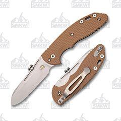 Hinderer XM Slippy Coyote Sheepsfoot CPM 20CV Blade G-10 Handle