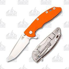 """Hinderer XM-18 3.5"""" Spanto Stonewash Orange"""