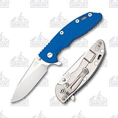 "Hinderer XM-18 3.5"" Slicer Stonewash Blue G10"