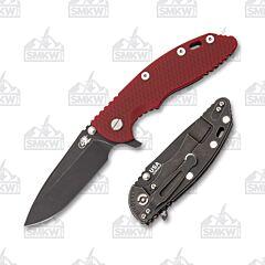 """Hinderer Knives XM-18 3.5"""" Battle Black Red"""
