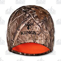 Kings Camo Reversible Beanie Realtree Edge and Blaze Orange