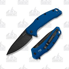 Kershaw Link Navy Blue Blackwash