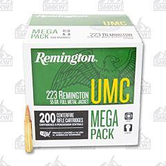 Remington UMC Ammo 223 Remington 55 Grain Full Metal Jacket 200 Rounds Mega Pack