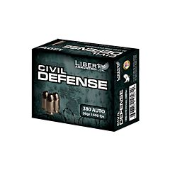 Liberty Civil Defense 380 Auto 50 Grain Fragmenting Hollow Point 20 Rounds