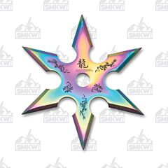 Perfect Point Rainbow 6 Point Throwing Star 440 Steel