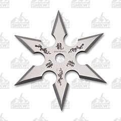 Perfect Point Silver 6 Point Throwing Star 440 Steel