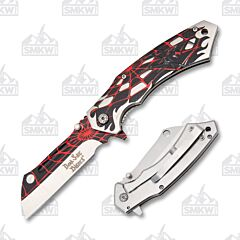 Dark Side Blades DS-A067BRD Black Widow with Red and Black Web