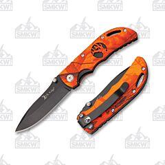 Elk Ridge Blaze Orange Camo and Black Linerlock