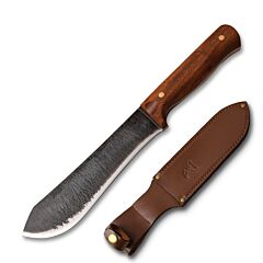 Master Cutlery Elk Ridge Large Primitive Style Fixed Blade 65MN High Carbon Steel Cherry Wood Handle