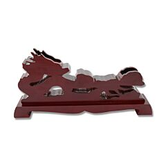 """Master Cutlery 15"""" Chestnut Wood Sculpted Chinese Dragon Sword Stand"""