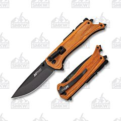 MTech 1082BR Linerlock Knife with Brown Pakkawood Handle
