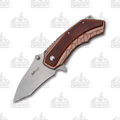 Mtech USA Spring Assisted Knife Brown Pakkawood