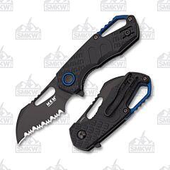 MKM Isonzo Hawkbill Serrated  Black FRN