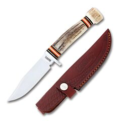 Marbles Stag Hunter Stainless Steel Blade Stag Handle