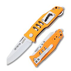 Marble's Rescue Linerlock 440A Stainless Steel Blade Orange Aluminum Handles