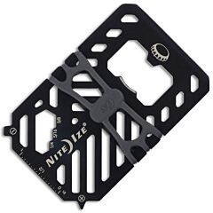 NITE IZE Financial Tool Multi-Tool Wallet Stainless Steel Black Coated