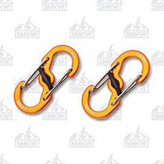 Nite Ize S-Biner Orange Microlock 2-Pack