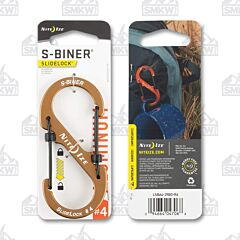Nite Ize S-Biner Slidelock Size 4 Coyote