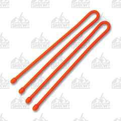 "NITE IZE Gear Tie Reusable Rubber Twist Tie 12"" Orange 2-Pack"