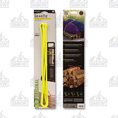 "NITE IZE Gear Tie Reusable Rubber Twist Tie 64"" Neon Yellow Model"