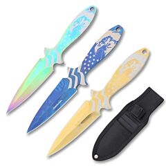 AeroBlades 3 Piece Assorted Throwing Knife Set
