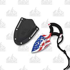 Neptune Trading Wartech Skull Push Dagger USA Flag Blade