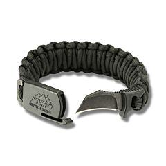 Outdoor Edge Para-Claw with Large Black Paracord Bracelet and BlackStone Coated 8Cr13Mov Stainless Steel Blade Model PCK90C
