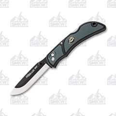 "Outdoor Edge Razor-Lite EDC Knife with Gray Grivory Handle and Satin Finish 420J2 Stainless Steel 3.5"" Drop Point Plain Edge Blade Model RLY-50C"