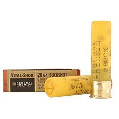 "Federal Premium Vital-Shok 20 Gauge 3"" #2 Buckshot 18 Pellets 5 Rounds"
