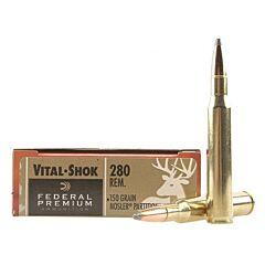 Federal Premium Vital-Shok 280 Remington 150 Grain Nosler Partition Tip 20 Rounds