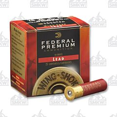 "Federal Premium 28 Gauge 2-3/4"" 3/4 oz Wing-Shok Buffered Copper Plated Shot 25 Rounds"