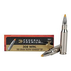 Federal Premium Vital-Shok 308 Winchester 180 Grain Trophy Bonded Tip 20 Rounds