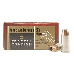 Federal Premium 32 ACP 65 Grain Jacketed Hollow Point 20 Rounds