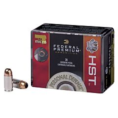 Federal Premium Personal Defense HST Micro 380 ACP 20 Rounds
