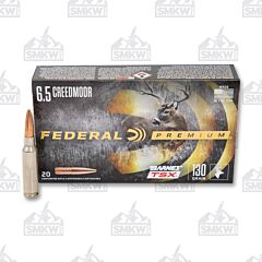 Federal Premium Barnes TSX 6.5 Creedmoor 130 Grain Triple-Shok X Projectile 20 Rounds