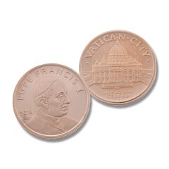 Pope Francis I Copper Round Coin