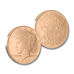 Peace Dollar Copper Round Coin