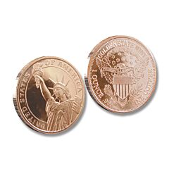 Statue of Liberty One Ounce Copper Round