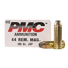 PMC Bronze 44 Remington Magnum 180 Grain Jacketed Hollow Point 25 Rounds