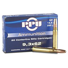 Prvi Partizan 9.3x62mm Mauser 285 Grain Jacketed Soft Point 20 Rounds
