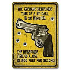 Average Response Time Tin sign