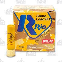 "RIO Game Load 20 Gauge 3"" 1250 FPS Max Dram 1 1/4 OZ 8 Shot 25 Rounds"