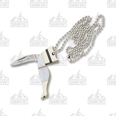 Rough Ryder Lady Leg Necklace Knife Pearl