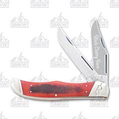 Rough Ryder Black Cherry Bone Folding Hunter