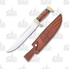 Rough Ryder 10 Inch Bowie Stacked Leather
