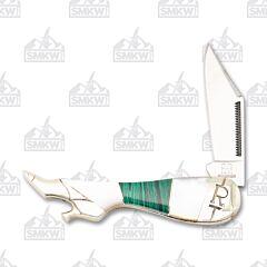 Rough Ryder Stoneworx Malachite Pearl Small Leg Knife