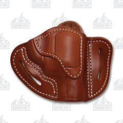 1791 Gunleather Classic Brown Open Top Right Hand J Frame Revolver OWB Holster Size 1