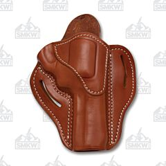 1791 Gunleather Classic Brown Open Top Right Hand K Frame Revolver OWB Holster Size 2